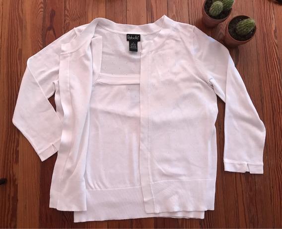 Conjunto Twinset Importado De Usa Saco Y Musculosa Sweater