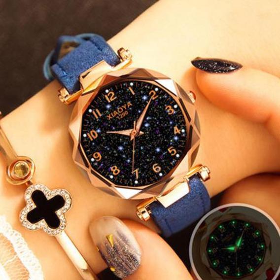 Relógio Feminino Xiaoya 1290 Céu Estrelado Frete Grátis