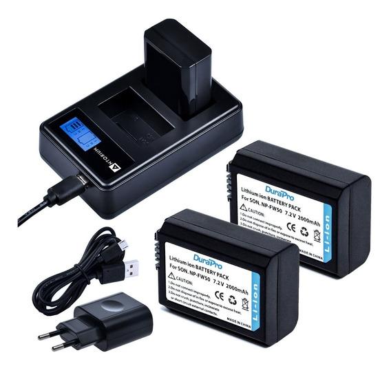 Carregador Duplo +2x Bateria Fw50 Sony A7s A7ii A6500 +nf