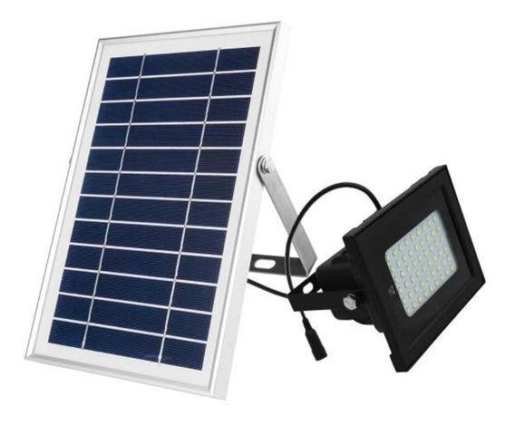 Lampara Solar 25 Watts, Reflector Solar 54 Leds, Garantía 5 Años