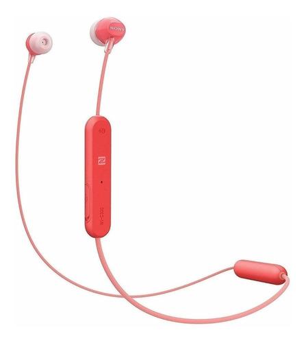 Imagen 1 de 2 de Audífonos in-ear inalámbricos Sony WI-C300 rojo
