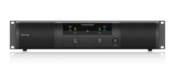 Amplificador De Potência Behringer Nx6000 Com 2 Canais 6000w