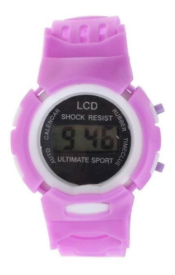 Relógio Para Crianças Marca Ultimate Sport Cor Lilás.