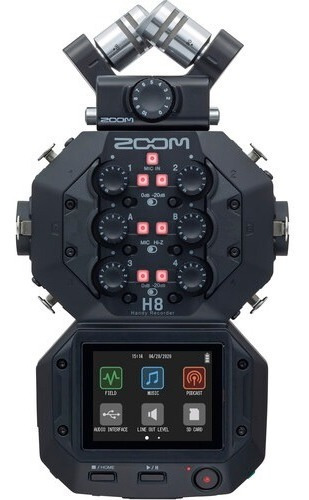 Imagem 1 de 10 de Zoom Gravador De Áudio H8 Handy Recorder 12x S/juros