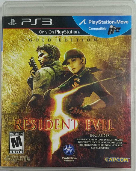 Jogo De Ps3 Resident Evil 5 Em Mídia Física Gold Edition