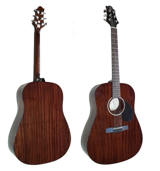 Guitarra Acustica Samick D1n Caoba Brillante Dreadnought