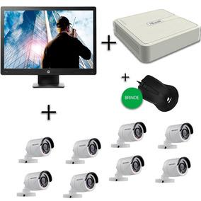 Kit Câmera De Segurança 8 Câmeras + Monitor + Dvr + Brinde