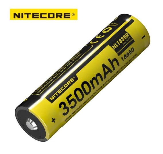 Bateria Nitecore 18650 3500 Mah 3,6v Carrega Por Micro-usb