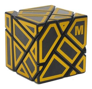 Cubo Rubik Ghost Ninja 3x3 Negro Stickers M Dorado + Base