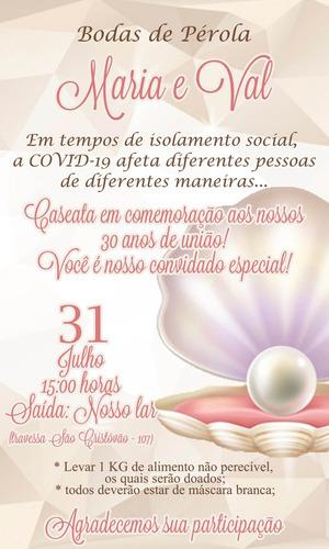 Imagem 1 de 1 de Convite Digital Bodas De Pérola