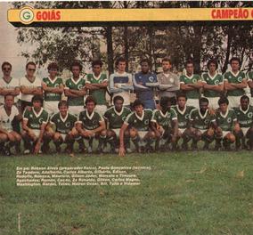 Goiás Campeão Goiano 1983 - Pôster Da Revista Placar