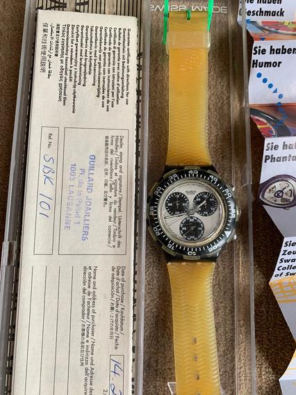Relogio Swatch,aqua Chrono.sbk101.ano 92.grande Modelo.43 Mm