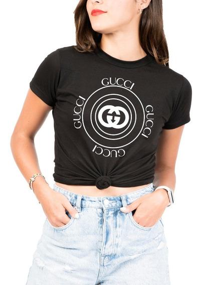 Playera Tipo Gucci Redondo Mujer -marca M&o Calidad Premium