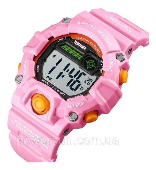 Relogio Skmei 1484 Infantil Data Crono Alarm Dual Time Luz