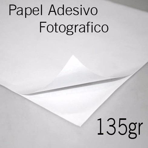 Papel Fotográfico Adesivo Glossy A 4 100 Folhas Brilhante