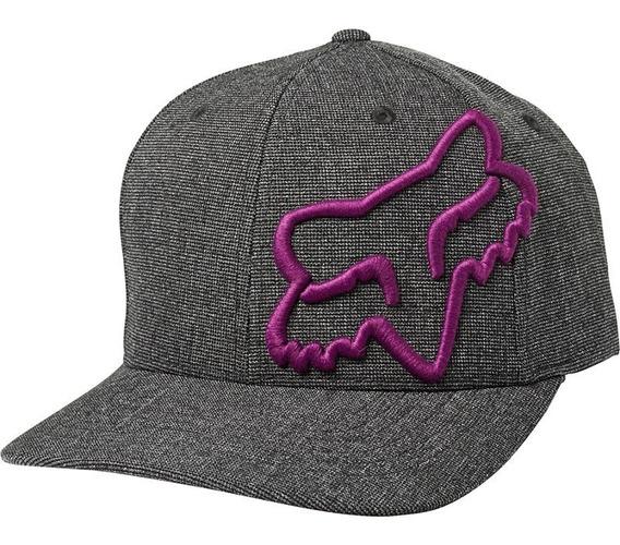 Gorra Fox Clouded Flexfit Negro/morado Casual
