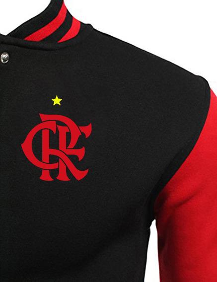 Flamengo Escudo Bordado Jaqueta College Americana Exclusiva