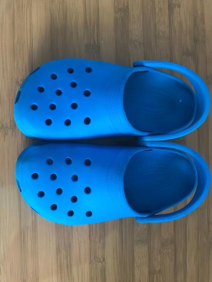 Sandália Crocs Azul Céu J4 Usa 35 Br Usada