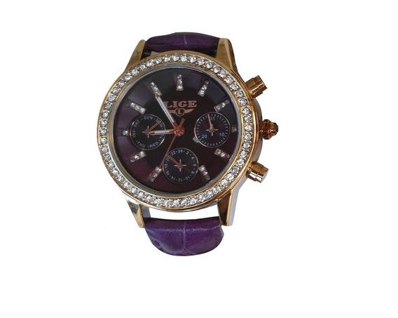 Relógio Feminino De Luxo Lige Original Na Caixa