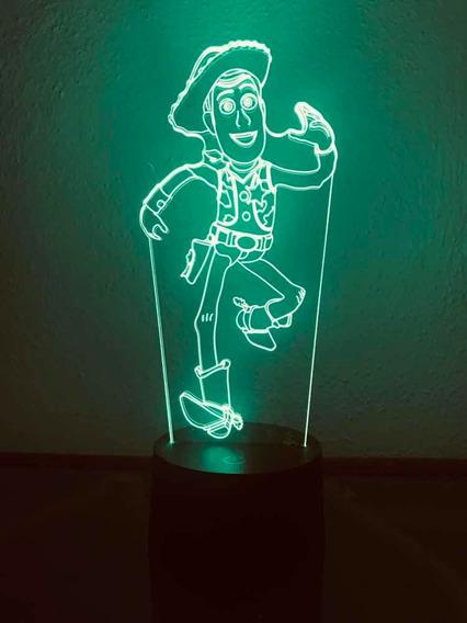 Woody Lámpara Toy Story, 3d , 7 Colores , Envió Gratis