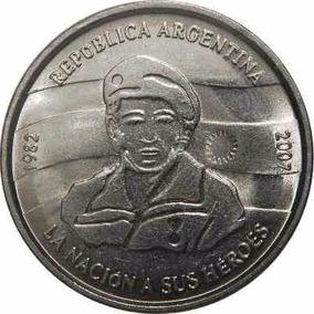 Argentina 2 Pesos 2007 Malvinas - 25° Anivers. Sin Circular