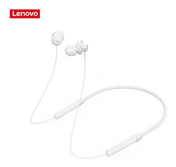 Audífonos Lenovo Bluetooth Con Collar Blanco