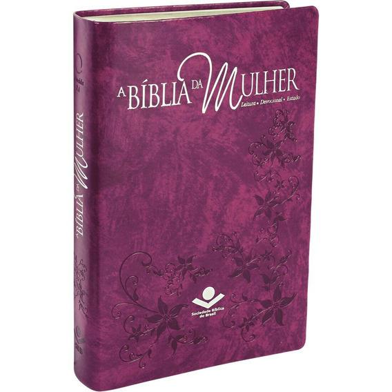 Bíblia Da Mulher Luxo Grande Estudo Feminino Devocional