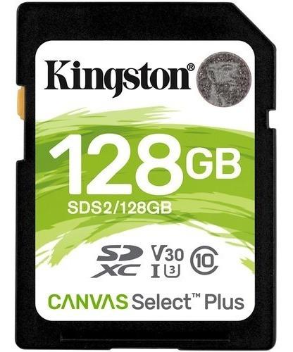 Imagem 1 de 2 de Cartão Memória Kingston Sd Xc 128gb Canvas Select Plus Uhs-i