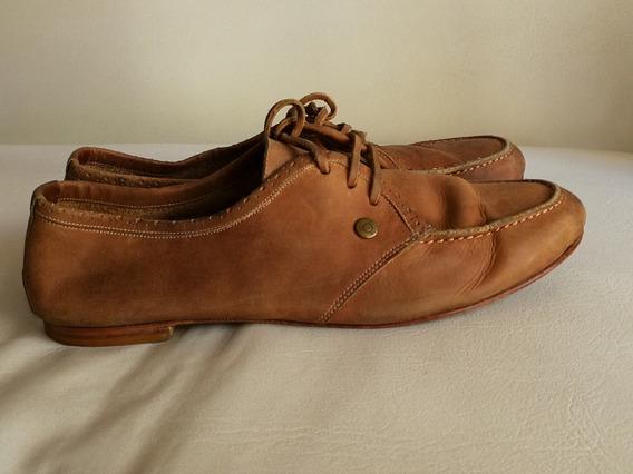 Zapato Cardon Cuero Vacuno Natural Color Suela Gastado