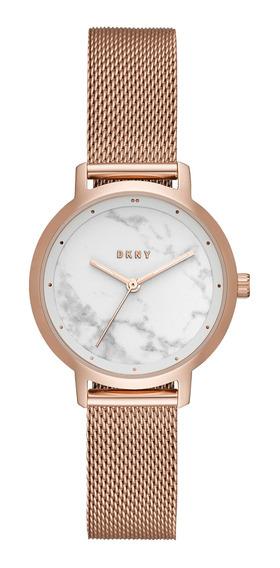 Reloj Dama Dkny Ny2703 Color Oro Rosado De Acero
