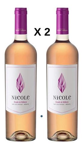 Imagen 1 de 3 de Vino Pack 2 Botellas  Rosado Nicole Cava Quintanilla 750 Ml