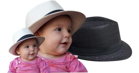 Chapéu Moda Panamá Infantil Bebê 6 Meses Até 3 Ano Unissex