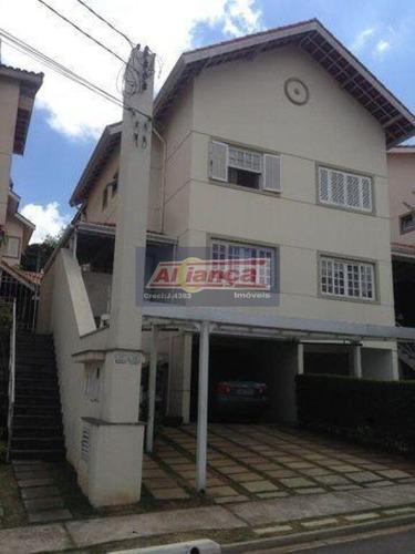 Lindo E Recém Reformado Sobrado Com 3 Dormitórios- 210 M²  - Ponte Grande - Cond. Fechado - Ai20352