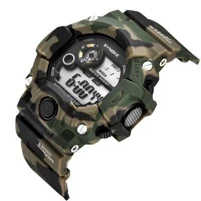 Relógio Esportivo Digital Led Masculino Militar Camuflado