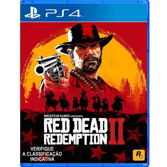 Jogo Mídia Física Red Dead Redemption 2 Original Para Ps4