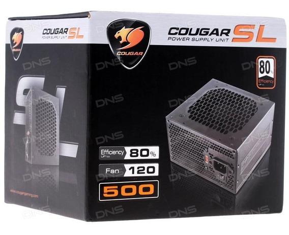 Fonte Real Cougar Series Sl 500 500w Reais Atx/eps Lacrada!