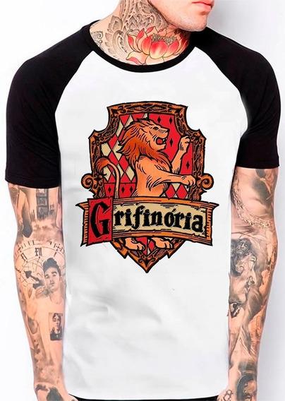 Camiseta Raglan Grifinória Harry Potter Filme 542