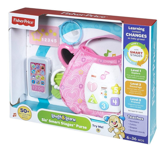 Fisher Price Laugh & Learn Sis Smart Stages Purse 6 A 36 Mes