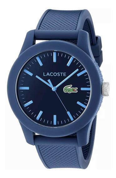 Reloj Lacoste 2010765, 43 Mm, Correa Texturizada De Silicon
