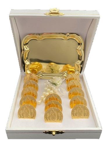 Arras Matrimoniales Oro Lam 14k Virgen De Guadalupe