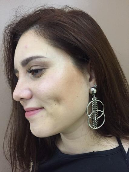 Brinco Círculos (prata)