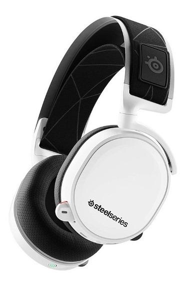 Headset Steelseries Arctis 7 2019 Branco Stl-61508 Wireless Pc Ps4 Mac / Cabo Switch E Smartphone