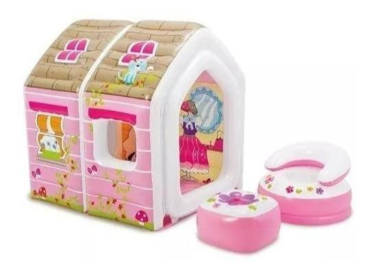 Casinha Das Princesas Inflável Infantil Rosa Intex 48635
