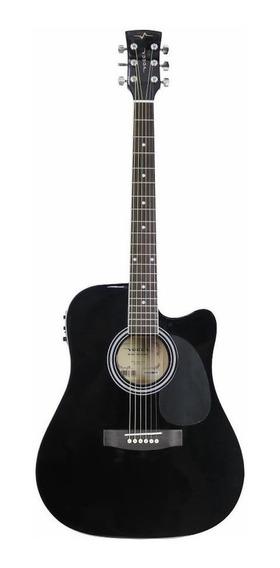 Violão electroacústico Vogga VCK370 tilia black