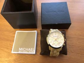 Relógio Feminino Michael Kors Mk 5217 Dourado Madre Pérola