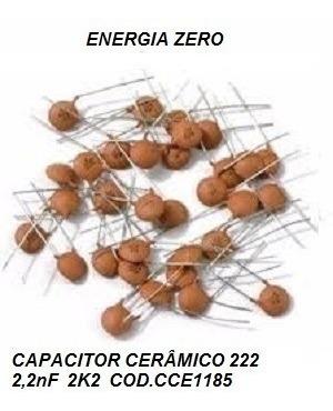 Capac.cerâ 222 2,2nf 2k2 Pac10 Unid Cod.cce1185 Frete Cr