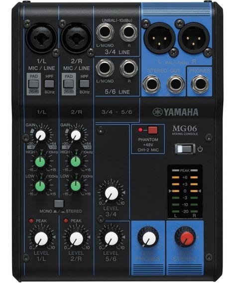 Mesa De Som Yamaha Mg06 6 Canais Mg-06 C/ Nota E Garantia