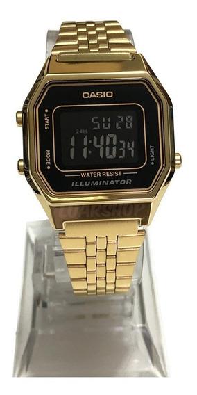 Relógio Casio Digital Mini Femino La680 Dourado Original Nf