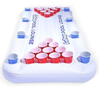 Beer Pong Alberca Inflable Go Pong Pool Piscina Juego Mesa