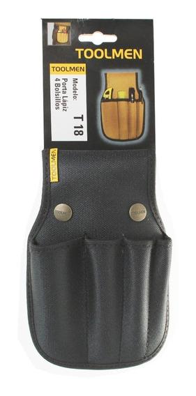 Porta Lápiz Toolmen T 18 4 Bolsillos Cutter Cinturon